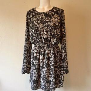 FOREVER 21 Black & White Floral Print Dress